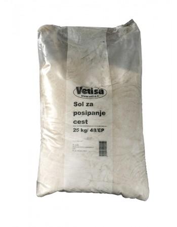 Sol za posipanje cest 25 kg