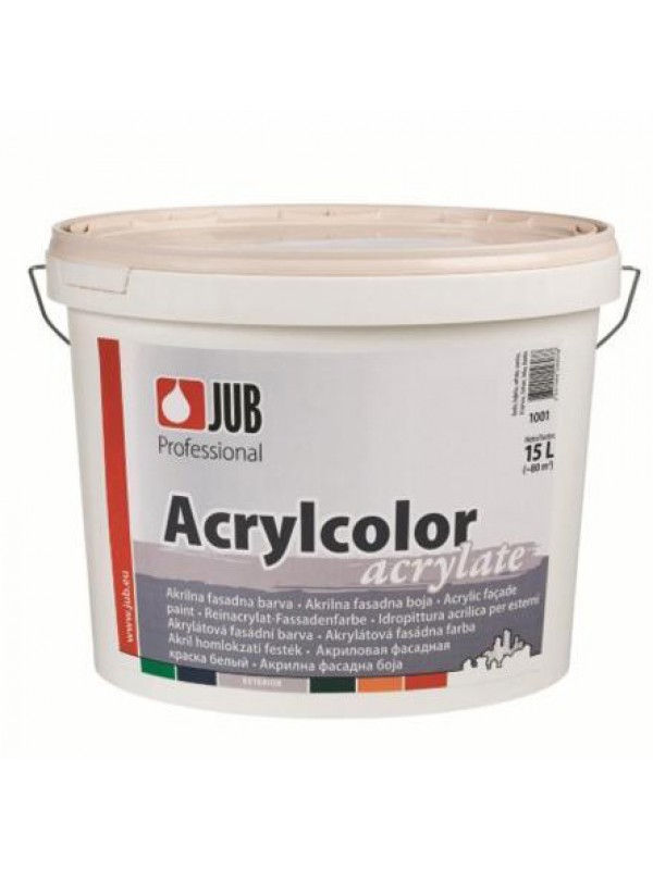 Akrilna fasadna barva Jub Acrylcolor 15l - bela