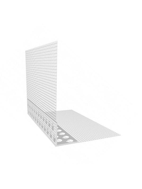 Vogalnik za fasado PVC z mrežico