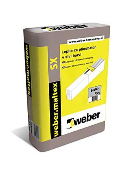 Lepilo za siporex Weber.maltex SX (siv)